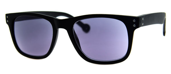 Matte Black -  Mens, Womens, Hip, Rectangular, Sunglass Readers