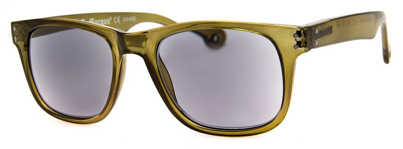 Olive -  Mens, Womens, Hip, Rectangular, Sunglass Readers