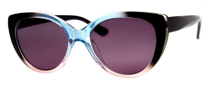 Blue/Pink - Cat Eye Sunglass Readers with UV Protection