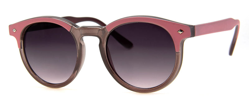 Grey/Pink - Hip Round Sunglasses for Women & Men