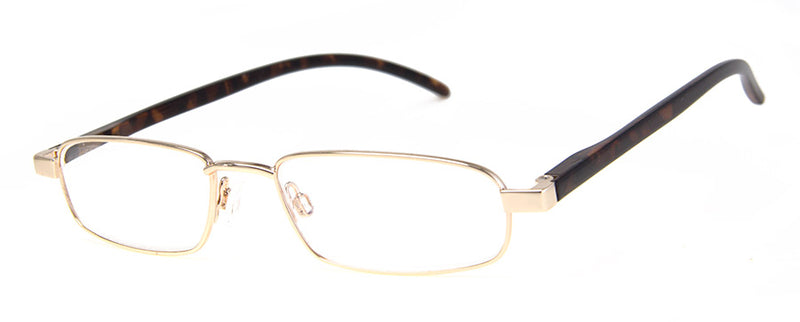 Gold Thin Metal Frame Reading Glasses for Men & Women