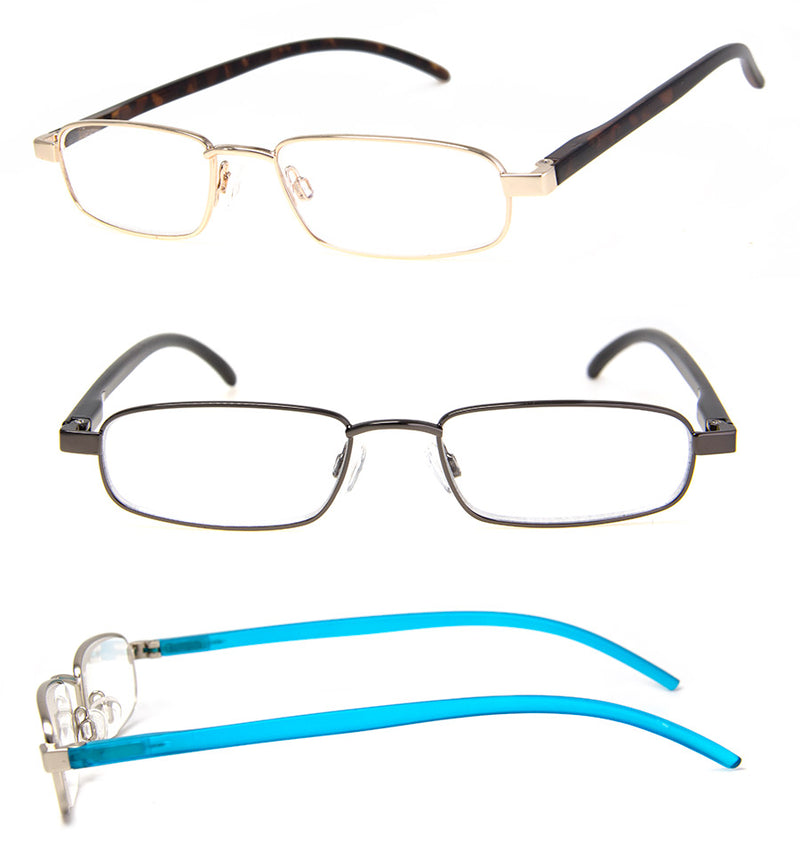 Thin Metal Frame Reading Glasses for Men & Women