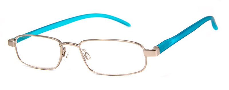 Silver Thin Metal Frame Reading Glasses for Men & Women