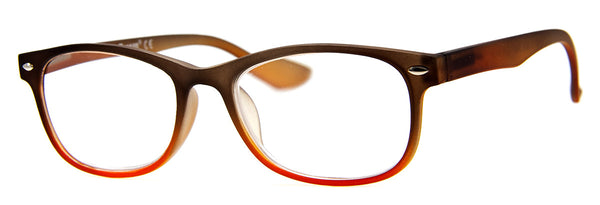 Black/Brown - Womens, Two-Tone Rectangular Reading Glasses