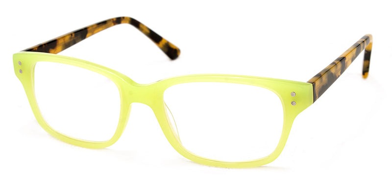 Lime Green Womens Rectangular Reading Glasses