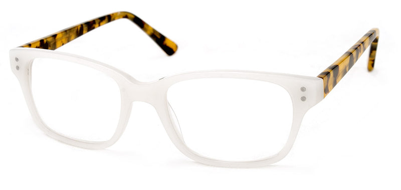 White Womens Rectangular Reading Glasses