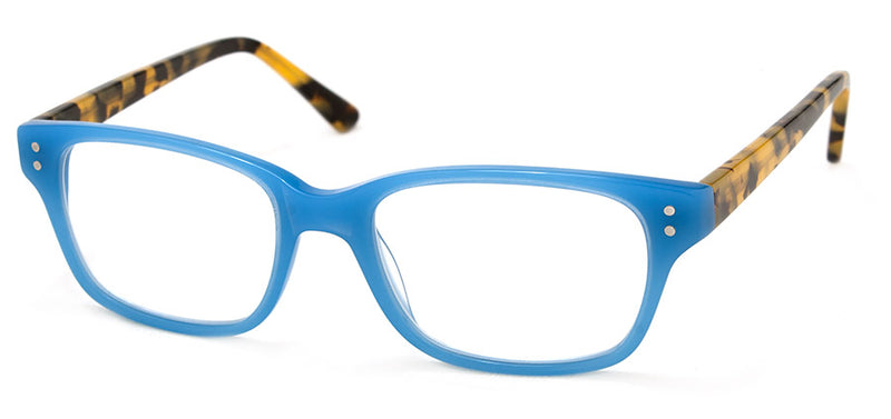 Turquoise Womens Rectangular Reading Glasses