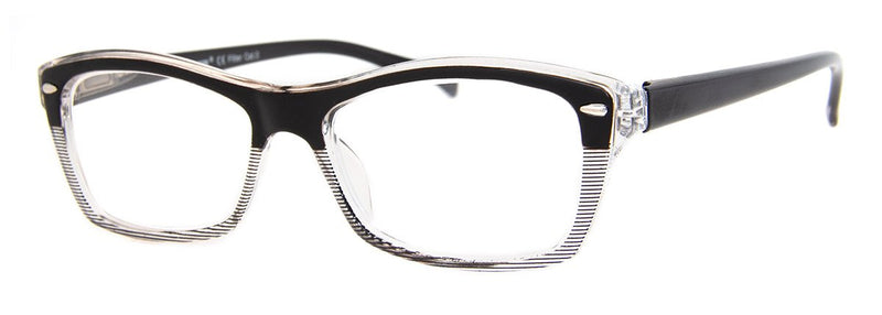 Black - Cute, Two-Tone, Womens Reading Glasses