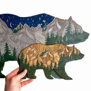 Bear Forest Painting Wall Hanging