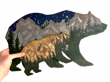 Load image into Gallery viewer, Bear Forest Painting Wall Hanging