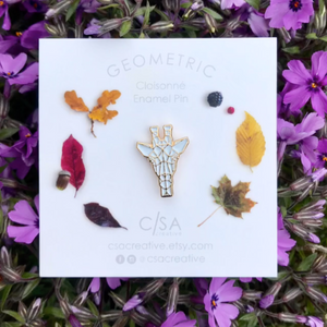 Gold Geometric Giraffe Enamel Pin