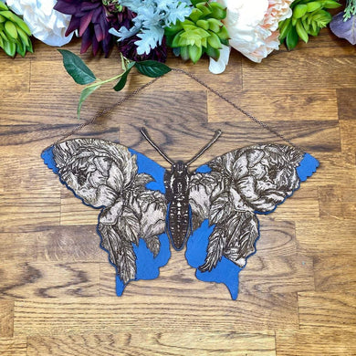 Floral Butterfly Wall Hanging
