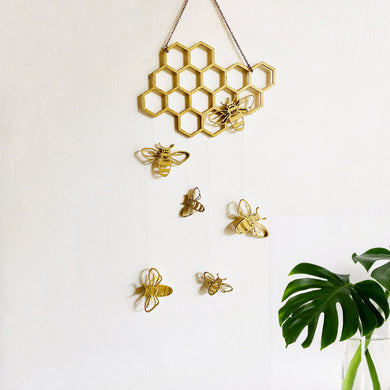 Honeycomb Bee Wall Hanging