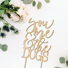 Load image into Gallery viewer, You Me and the Dog Cake Topper