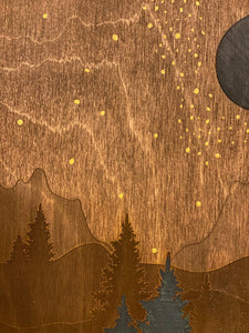 Night Sky Filled with Stars Wall Art