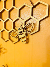 Load image into Gallery viewer, Honeycomb Bee Wall Hanging