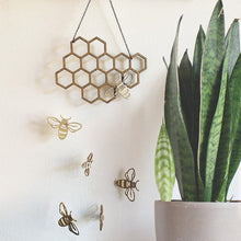 Load image into Gallery viewer, Bee Honeycomb Wall Hanging