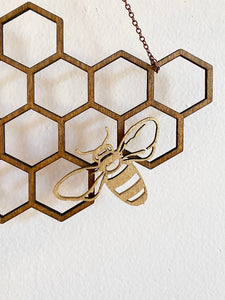 Bee Honeycomb Wall Hanging