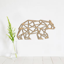 Load image into Gallery viewer, Geometric Bear Wall Art