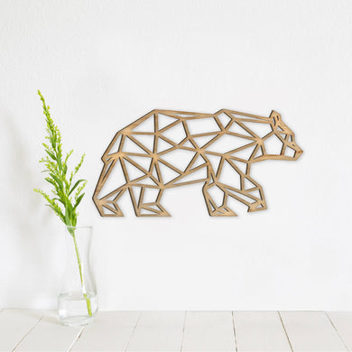 Geometric Bear Wall Art