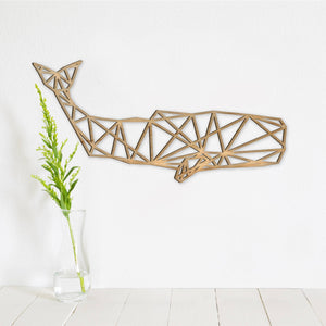 Geometric Whale Wall Art