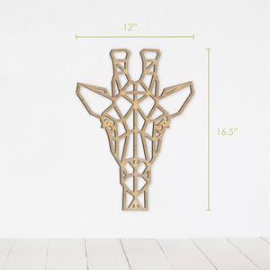Geometric Giraffe Wall Art