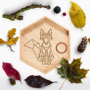 Geometric Fox Ring Holder