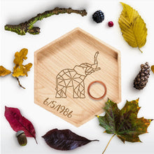 Load image into Gallery viewer, Geometric Elephant Ring Holder
