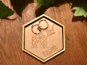 Geometric Elephant Ring Holder
