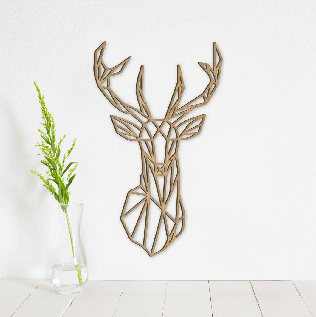 Geometric Deer Wall Art