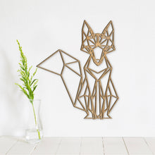 Load image into Gallery viewer, Geometric Fox Wall Art