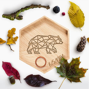Geometric Bear Ring Holder