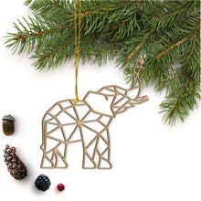 Load image into Gallery viewer, Geometric Elephant Ornament