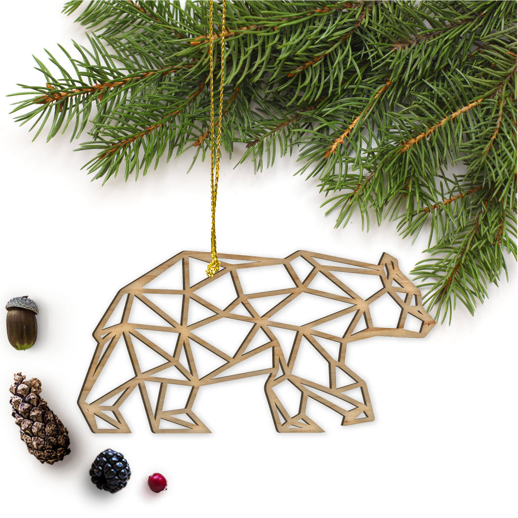 Geometric Bear Ornament