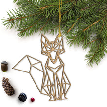 Load image into Gallery viewer, Geometric Fox Ornament