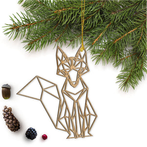 Geometric Fox Ornament