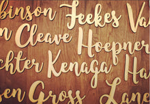 Load image into Gallery viewer, Wood Name Place Cards, Rustic Wedding Decor, Event Accessories