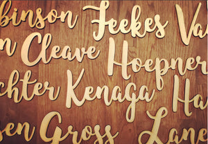 Wood Name Place Cards, Rustic Wedding Decor, Event Accessories