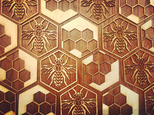 Load image into Gallery viewer, Honey Comb Bee Coasters