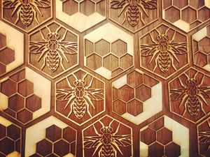 Honey Comb Bee Coasters