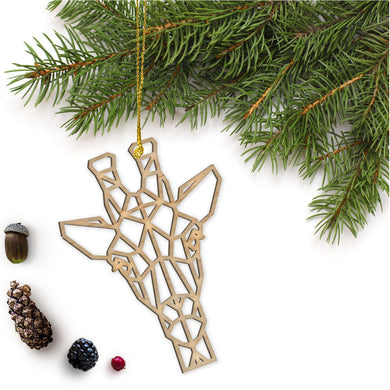 Geometric Giraffe Ornament
