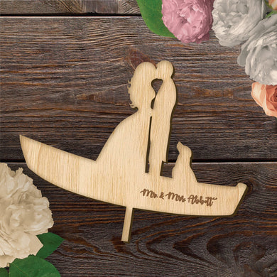 Custom Designed Wood Cake Topper
