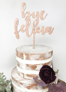 Custom Wood Cake Topper