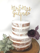 Load image into Gallery viewer, Custom Name Wood Cake Topper