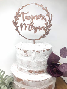 Personalized Wreath Cake Topper