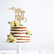 Load image into Gallery viewer, Mr and Mrs Cake Topper