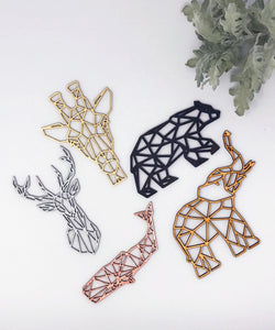 Geometric Deer Ornament