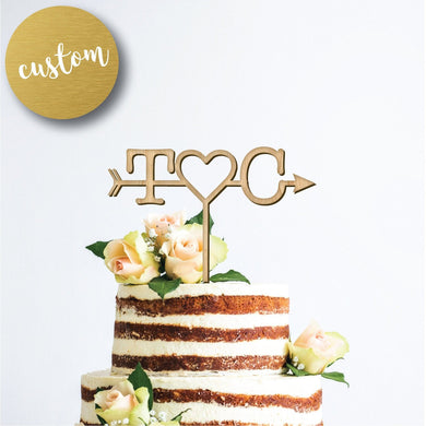 Personalized Arrow Cake Topper