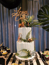 Load image into Gallery viewer, Custom Wood Cake Topper