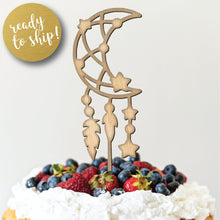Load image into Gallery viewer, Moon and Stars Cake Topper